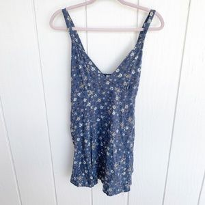 🚘MOVING🚘 MAHINA HAWAII Blue Floral Mini Dress S